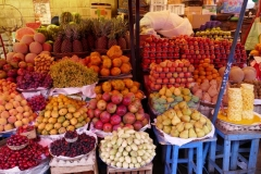 Früchte in Reih und Glied