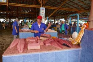 geschnittenes Fischfleisch